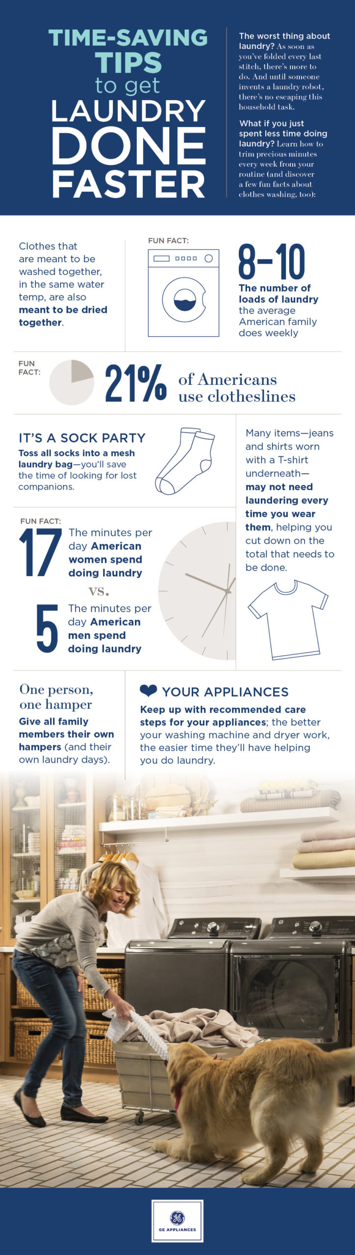 Time Saving And Fun Laundry Tips infographic